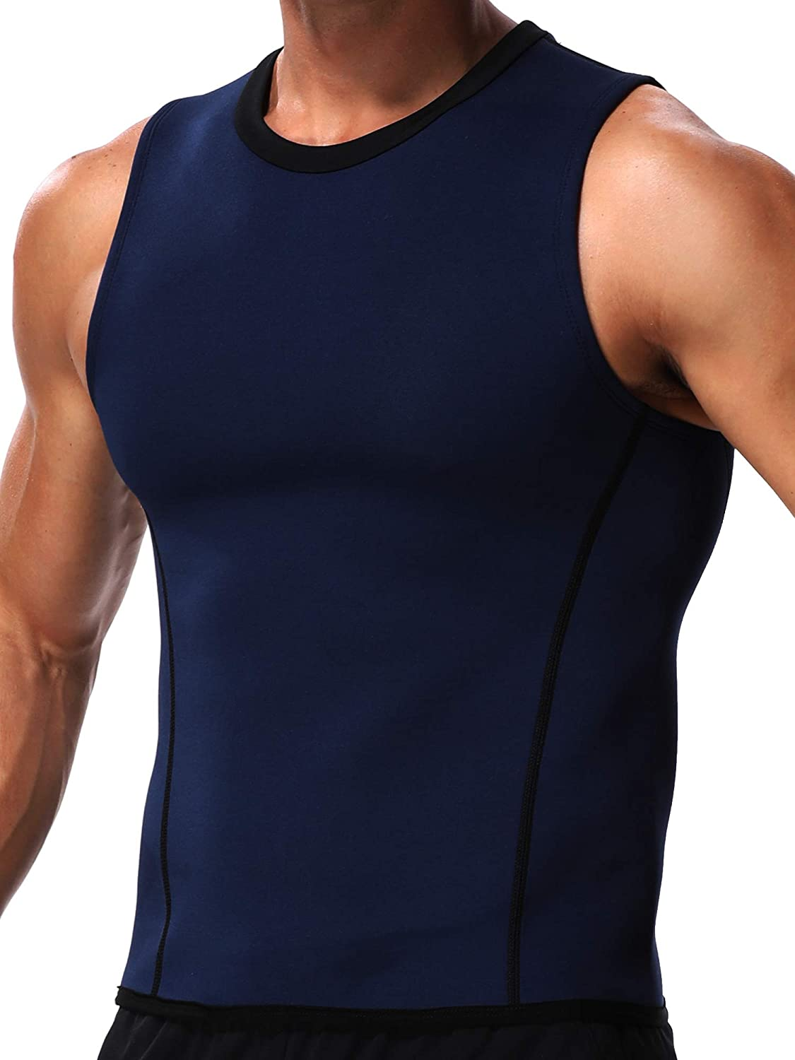 MISS MOLY Sauna Sweat Vest Mens Abs Chest Firm Control Slimming Quema Grasa Adelgazar