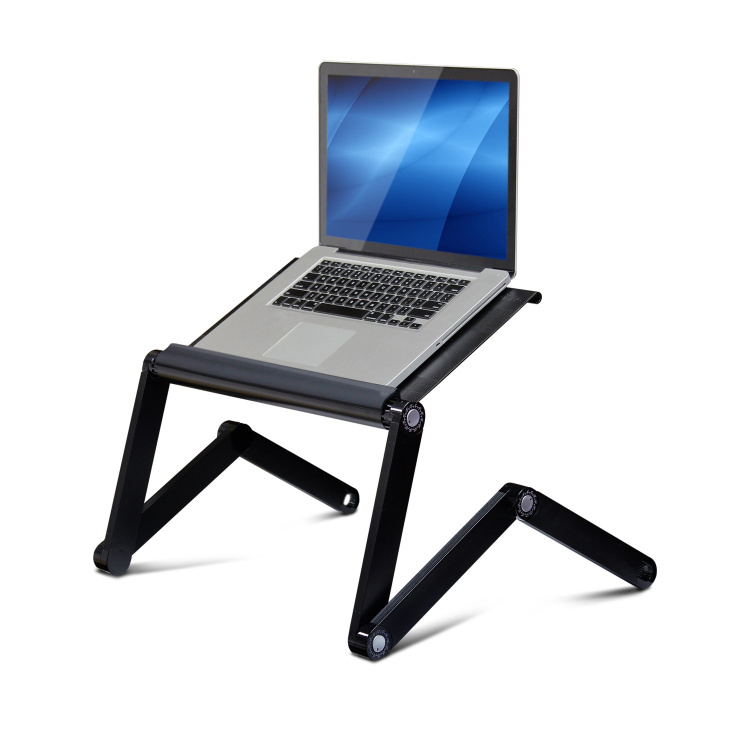 Furinno A6 Black Ergonomics Aluminum Vented Adjustable Laptop Portable Bed  Tray, Black: Amazon.co.uk: Kitchen U0026 Home