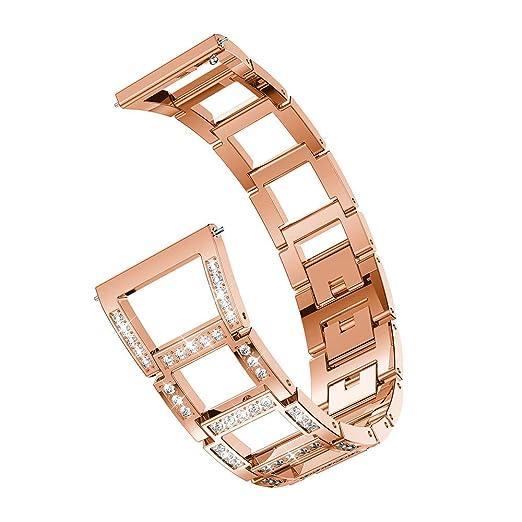 Correas para Relojes de Hombre y Mujeres,BOBOLover Compatible Samsung Galaxy Watch 46mm-Cristal