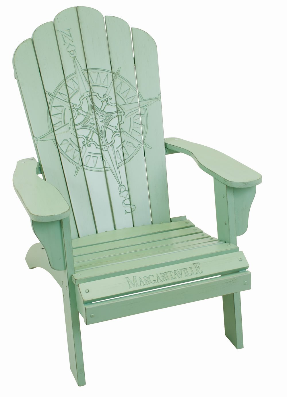 Jimmy Buffett Adirondack Chairs.Margaritaville Wood Carved Compass Rose Green Adirondack