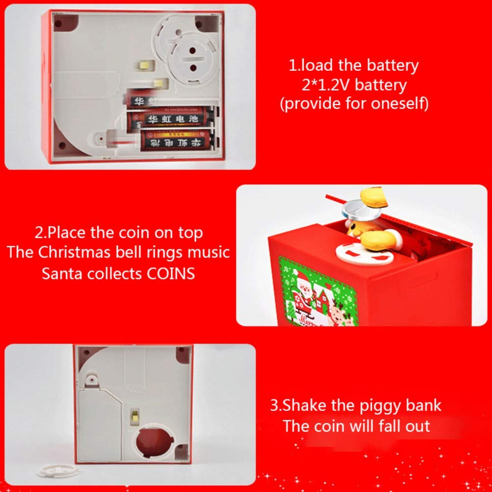 Mini ATM Cash Coin Bank with Lights and Music for Kids Kids Code Armored Car Password Piggy Banks Forart Electronic Money Bank