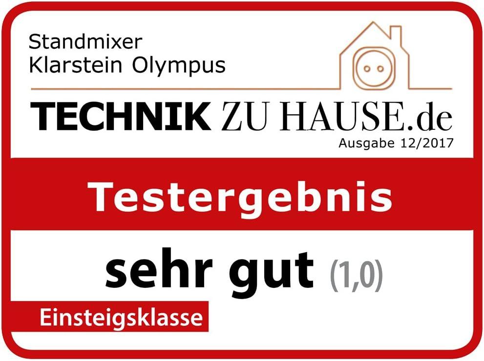 Power-Blender Klarstein Olympus R 4 Programme rot Icecrusher Standmixer 6 Edelstahlklingen Smoothie Maker 1400 W Hochleistungsmixer Profi-Mixer 2 L Mixbeh/älter