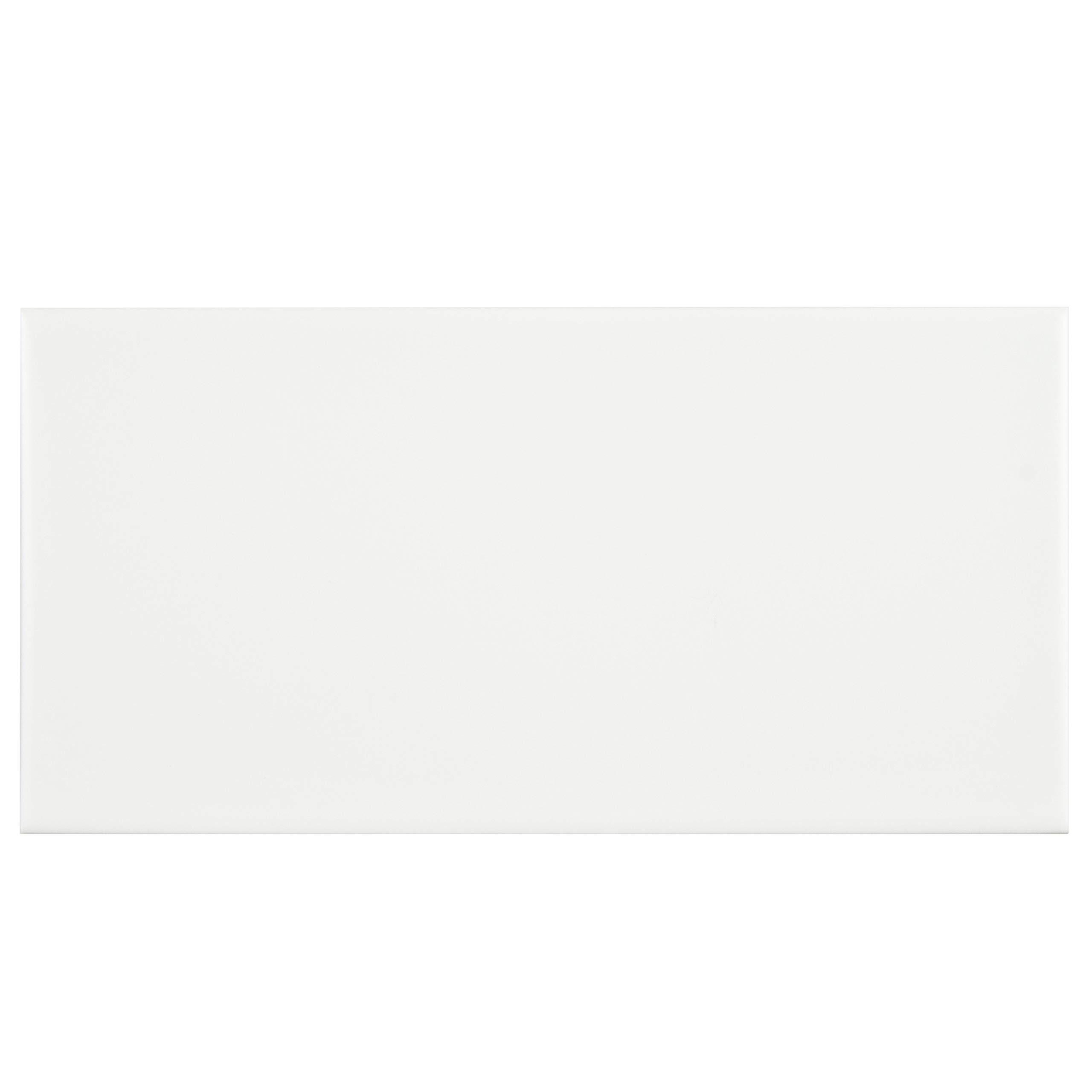 SomerTile FRC8PRNM Memoire Ceramic Floor and Wall, 3.875'' x 7.75'', White Tile, 50 Piece