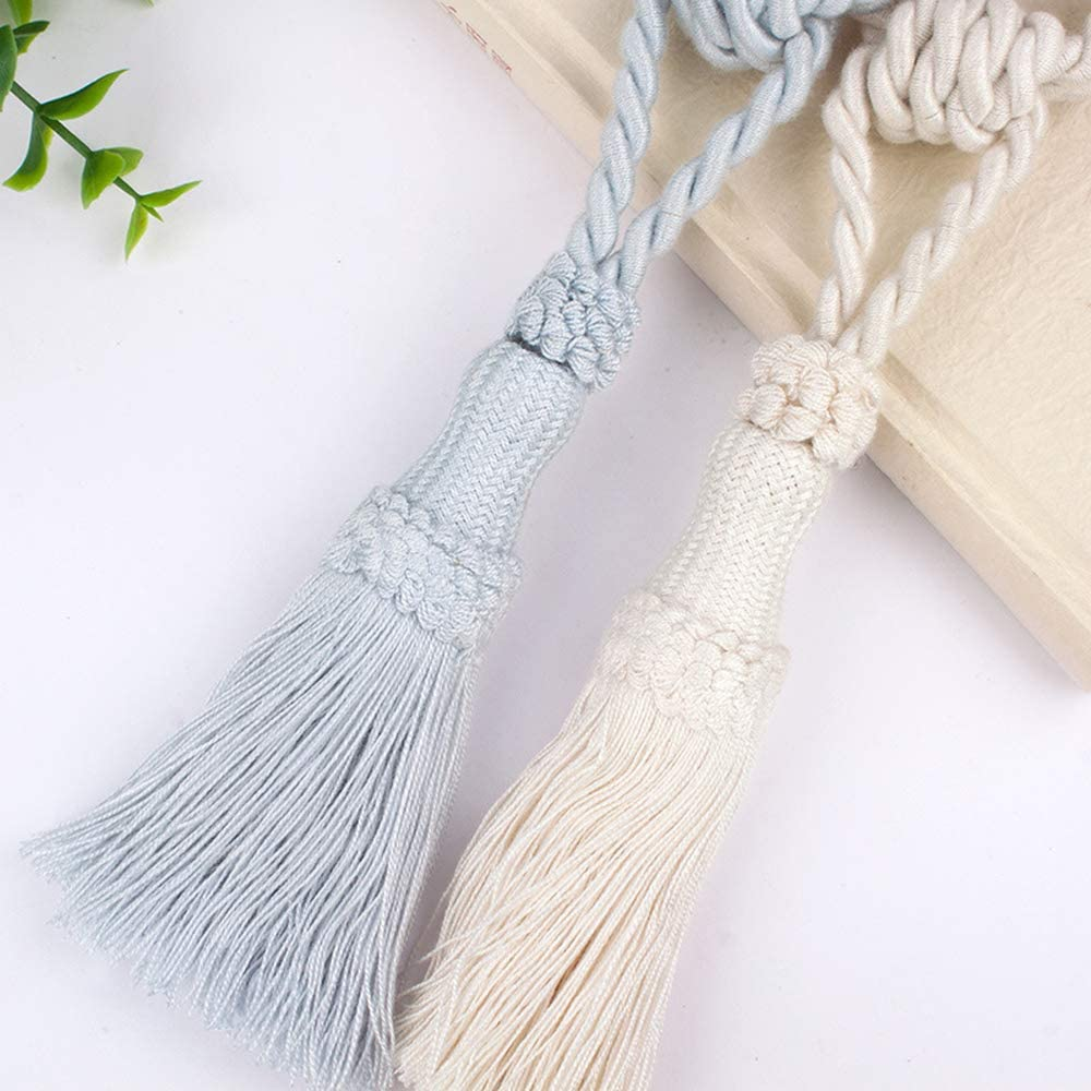 """Tassel Curtain Tieback 24.8/"""" Holdback Decorative Rope Tiebacks Curtain Holder"""
