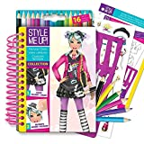 Style Me Up - Fashion Design Coloring Book for Girls, Set of Stencils, Pencils and Painting Book - SMU-1470