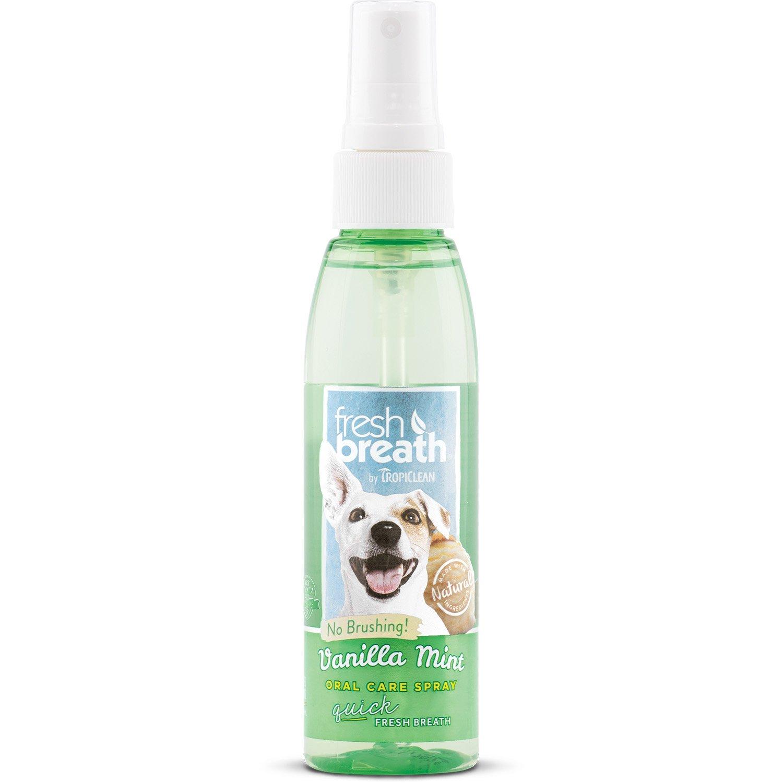 COSMOS 002333 Tropiclean Fresh Breath Vanilla Mint Oral Care Spray Lambert Vet Supply