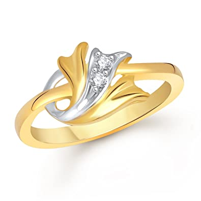 Buy Meenaz Fancy Flower Party Wear Ring Traditional Gold Ring For