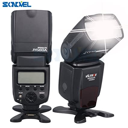 Viltrox JY-680 A Universal LCD Flash SPEEDLIGHT para cámara réflex ...