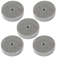 Luoke 5 Pcs 3 Inch Fiber Polishing Buffing Wheel Sanding Disc for Grinding/polishing