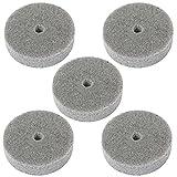 Luoke 5 Pcs 3 Inch Fiber Polishing Buffing Wheel Sanding Disc for Grinding/polishing