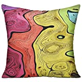 Unisex Rainbow Colored Wood Lines Soft Hold Pillow