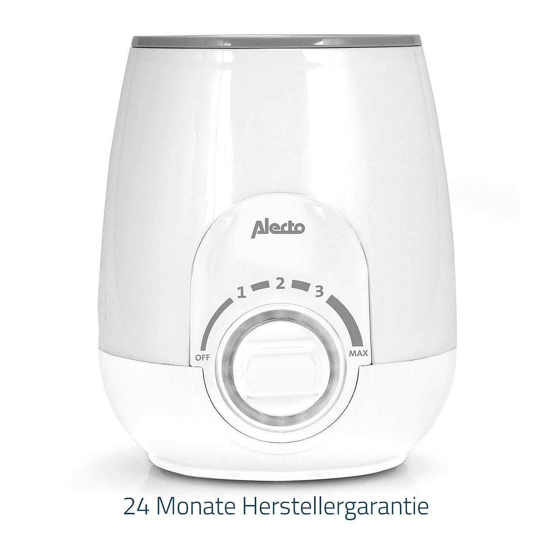 Alecto BW-500 Baby-Flaschenw/ärmer und Babynahrungszubereiter mit Warmhaltefunktion und Trockenschutz