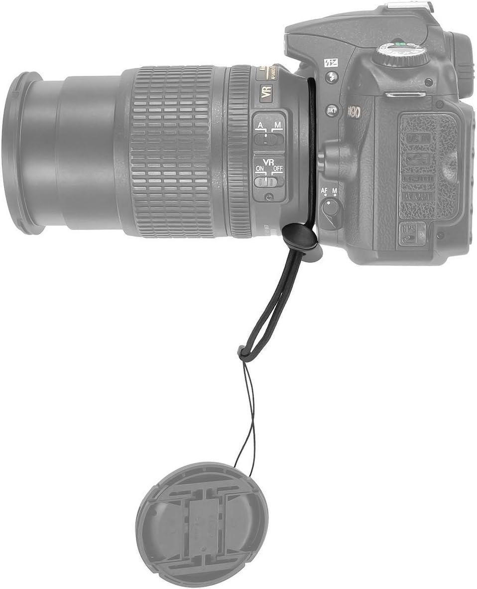 JJC Objektivdeckelhalter Lens Cap Keeper Kordel Universal Objektivschnur f/ür Canon Nikon Sony Pentax Fuji und andere SLR DSLR Kameras
