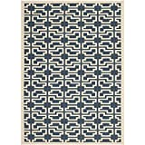 Safavieh Courtyard Collection CY6015-268 Navy and Beige Indoor/Outdoor Area Rug (4′ x 5'7″) Review