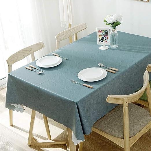 JITIAN - Mantel de PVC de Color Liso, Mantel de Hule Rectangular ...