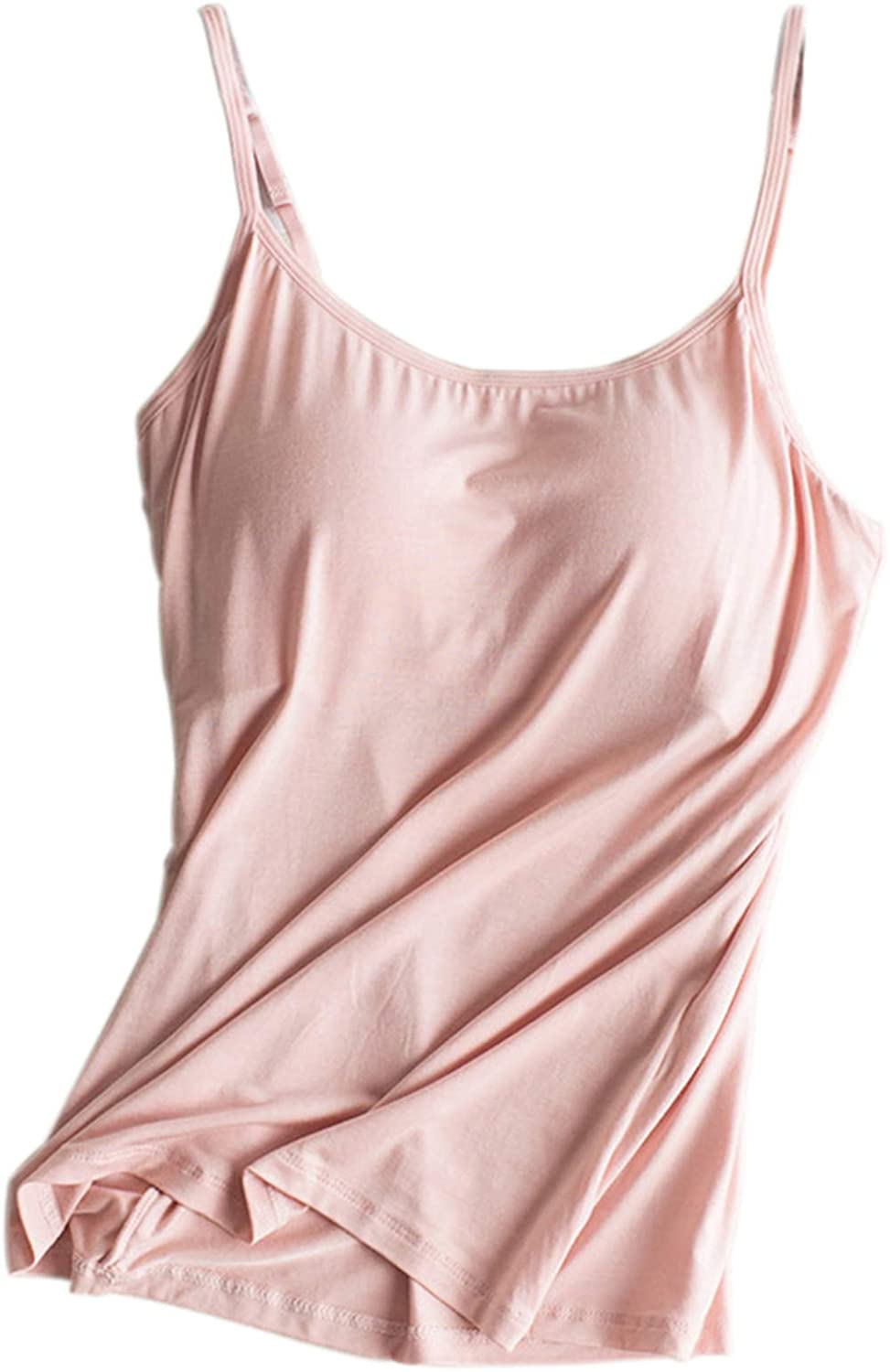 Kyiduo Womens Modal Built-in Bra Padded Camisole Yoga Tanks Tops