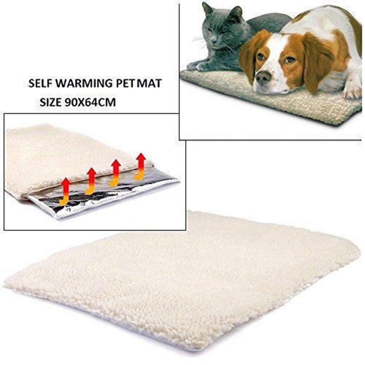 Funnyrunstore Autocalentable Perro Gato Cama para mascotas Alfombrilla calefactable Lavable Sin manta el/éctrica