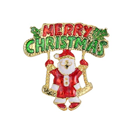 Christmas Brooches And Pins.Tonver Christmas Brooch Pins 1 Pcs Gold Plated Xmas Art Crafts Pattern Crystal Rhinestones Brooch Pin Jewellery Gifts For Women Girls Merry Christmas