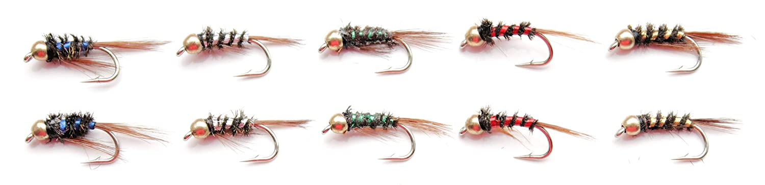 Set M1 10x or 25x Holographic Diawl Bachs Nymphs Flies for Trout Fly Fishing