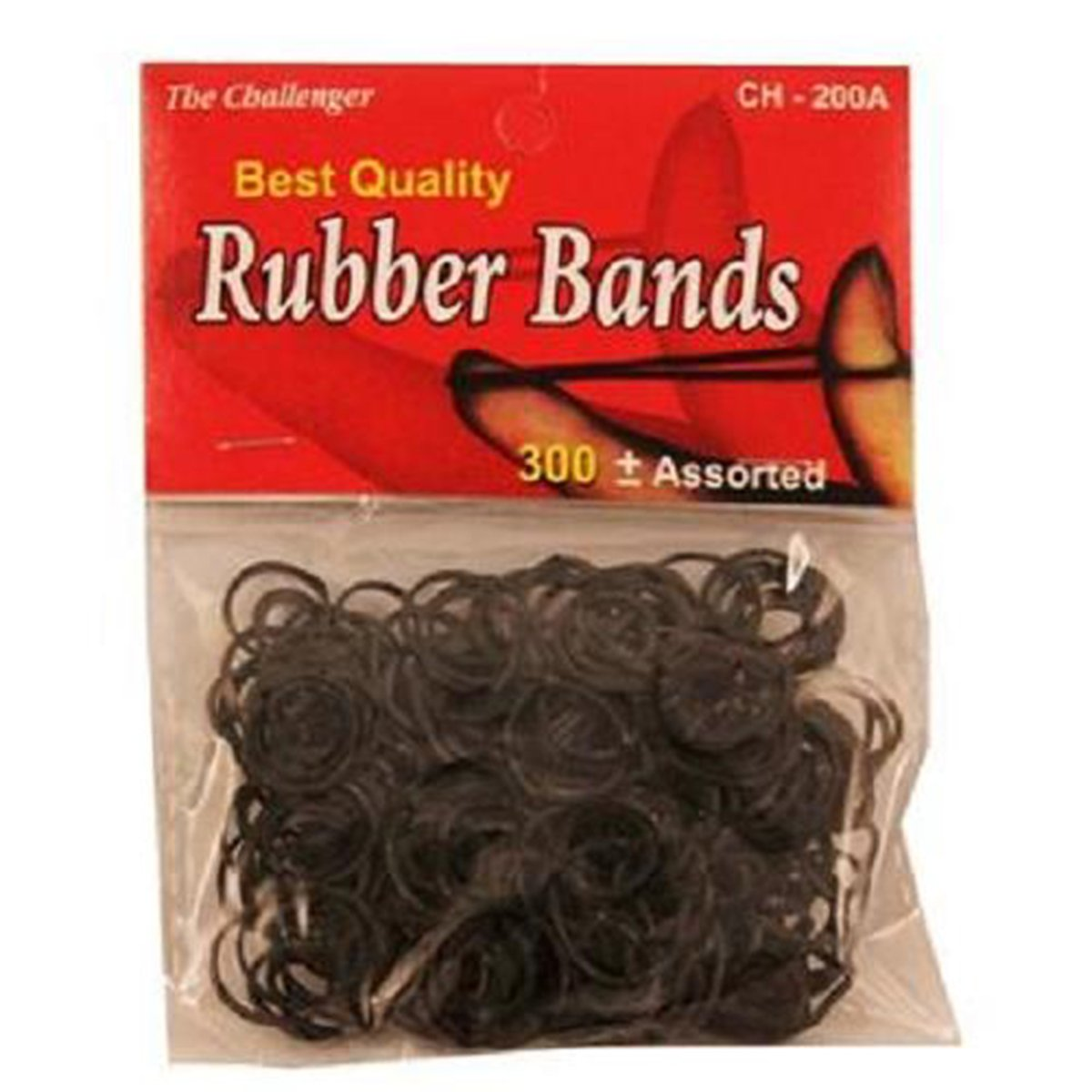 Rubber Bands Pony Tail Black, 12 Count (SCHOOL SUPPLY - MISC.)