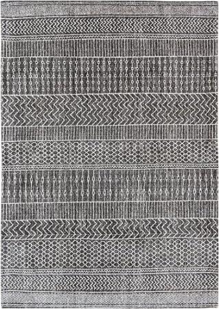 Louis de Poortere Agadir Alfombra, algodón, Gris Oscuro, 240x170 ...