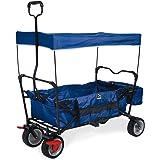 Pinolino 238013 Klappbollerwagen 'Paxi dlx' mit Bremse, blau Bollerwagen