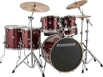 Ludwig Element Evolution 6 Piece Drum Set Wine Red Sparkle