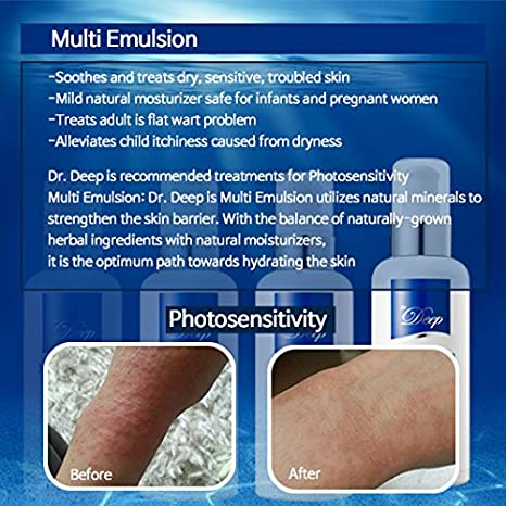 Dr.Deep Muti Emulsion Deep Moisturizing Plant Extract Oil Included Soothing Emulsion Helps Alleviate...