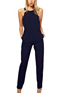 8ce7a030a576 YACUN Women s Loose Chiffon One Shoulder Causal Jumpsuit  Amazon.ca ...