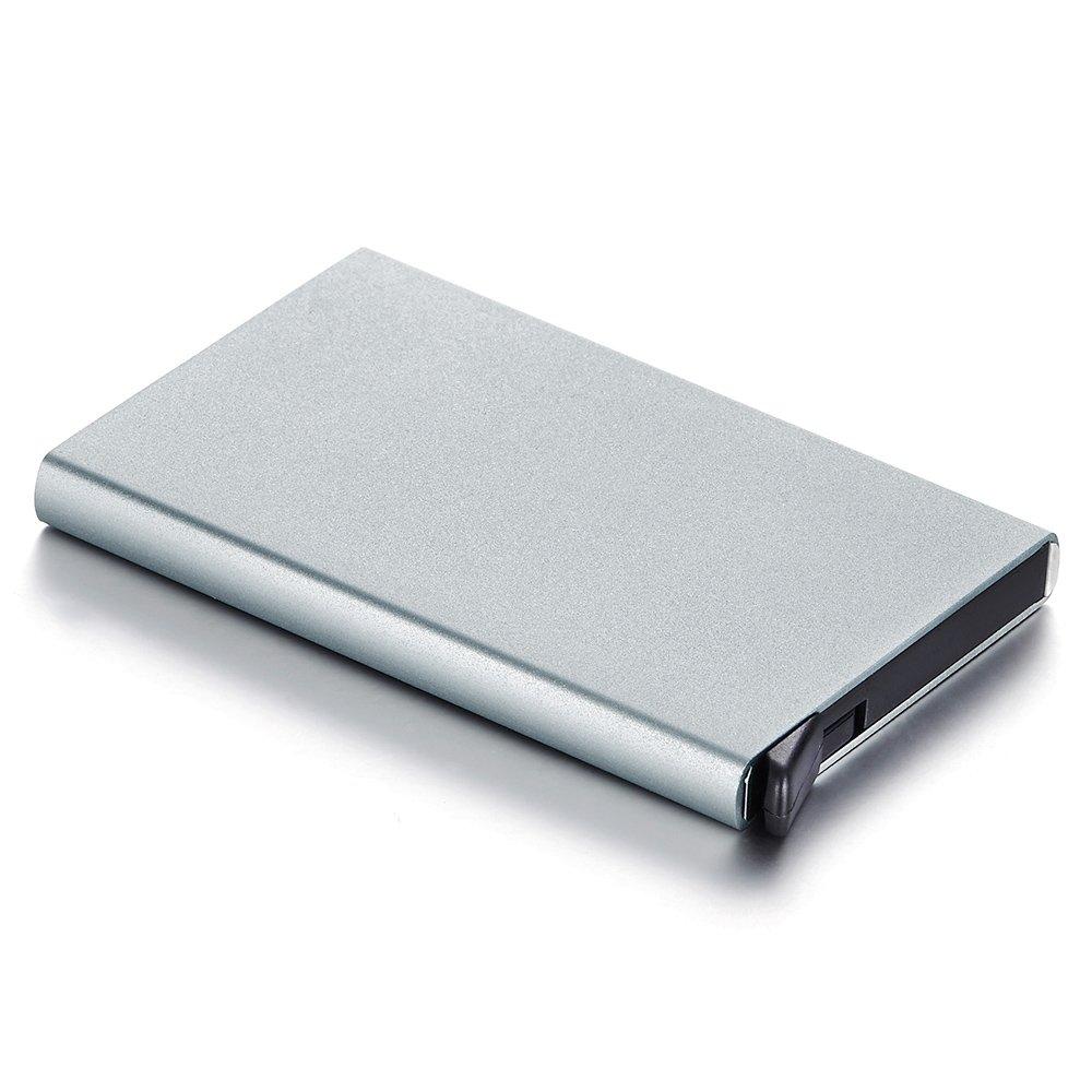 IMETACLII Aluminiumen Metallique Bouton Poussoir A Ressort Pop Up Porte Cartes De Visite Credit Nom