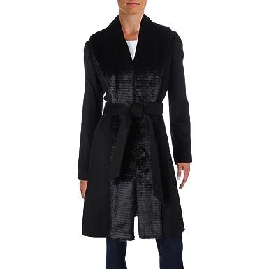 2d4dd9e03d22 Amazon.com  ELLEN TRACY Womens Faux Fur Tuxedo Coat  Clothing