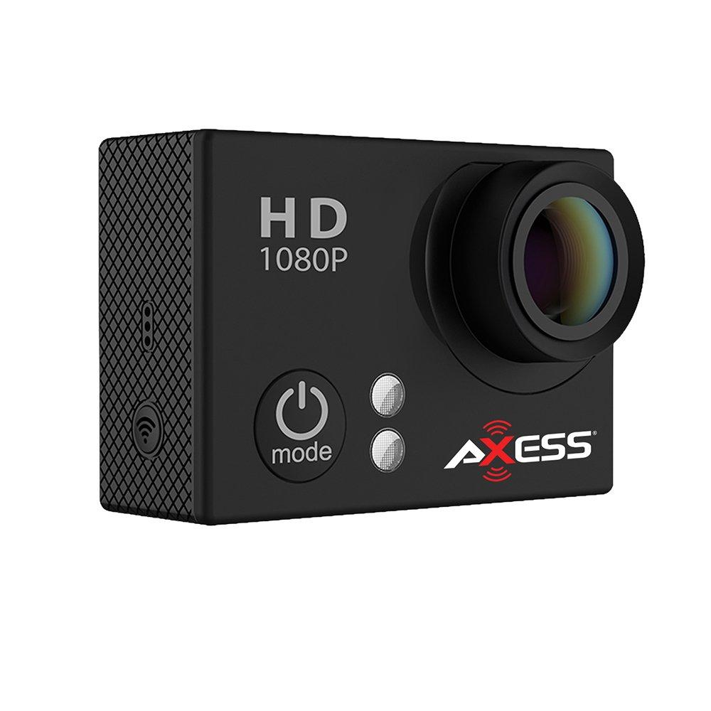 AXESS Full HD Weitwinkelobjektiv Sport und Action Kamera