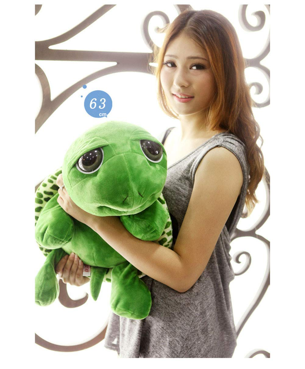 GeniusCells Big Giant Stuffed Animals Plush Toys Big Eyes Turtle Travel Hugging Pillow for Sleeping for Kids Adults