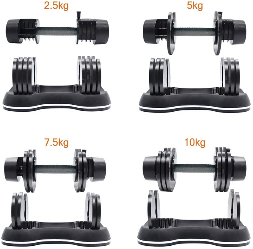 ATIVAFIT Adjustable Dumbbell 27.5 lbs Weights for Gym Home (Single) : Sports & Outdoors