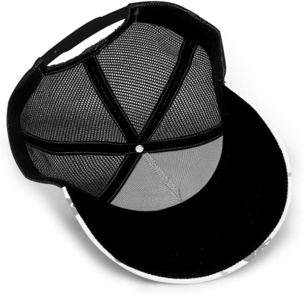 Baseball Cap Pattern Cartoon Cat Face Heart Adjustable Mesh Unisex Baseball Cap Trucker Hat Fits Men Women Hat