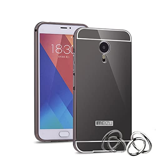 2 opinioni per HICASER Alluminio Metallo Custodia per Meizu MX5 Lusso Bumper Case + Specchio