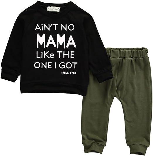 2PCS Toddler Baby Kid Boy T-shirt Tops+Long Pants Casual Outfits Clothes Se