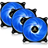 Antec 120mm Case Fan, PC Fans Blue LED, PC Case Computer Case Fan, 4-pin Molex Connector, F12 Series 3 Packs