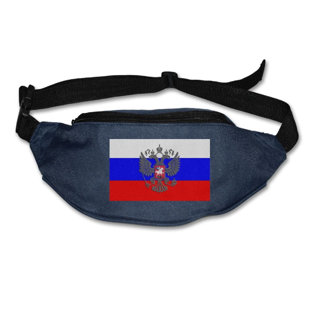 PVASAFS Yahui Russian Flag Russian Coat Of Arms (1) Waist Bag Fanny Pack/Hip Pack Bum Bag For Man Women Sports Travel Running Hiking/Money IPhone 6/7 6S/7S Plus Samsung S5/S6