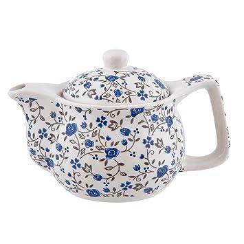 Teekanne Ø 14x14 cm Keramik blau Clayre Eef