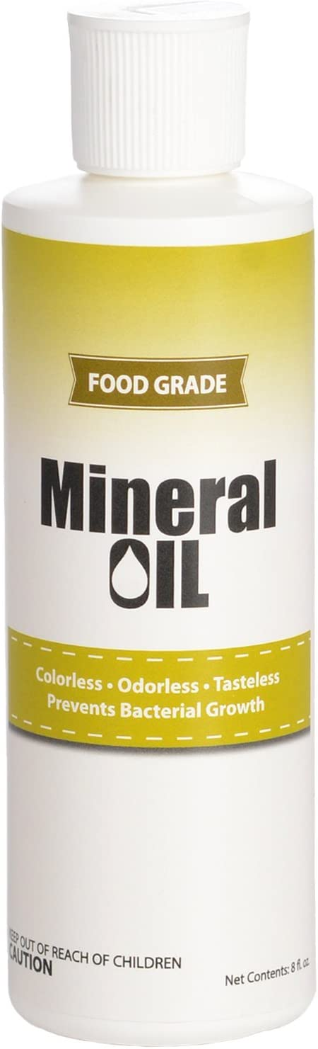 Premium 100% Pure Food Grade Mineral Oil USP, 8 ounces, NSF Approved, Butcher Block and Cutting Board Oil