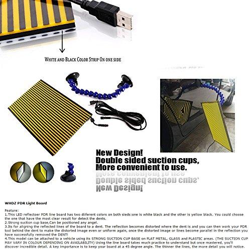 WHDZ Paintless Dent Repair Tools Kit, Tool Kit for Hail Damage Removal - 21pcs Paintless Dent Rods Dent Puller Slide Hammer Dent Lifter Glue Gun Tap Down Light Reflect Board Auto Dent Repair Kit by WHDZ (Image #2)