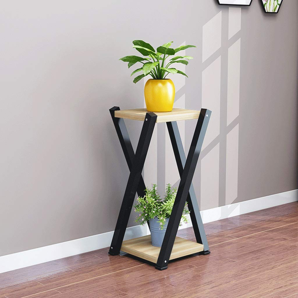WYY Flower Stand Living Room Balcony Flower Pot Rack Indoor Landing Save Space Flower Shelf (Size : L) by WYY