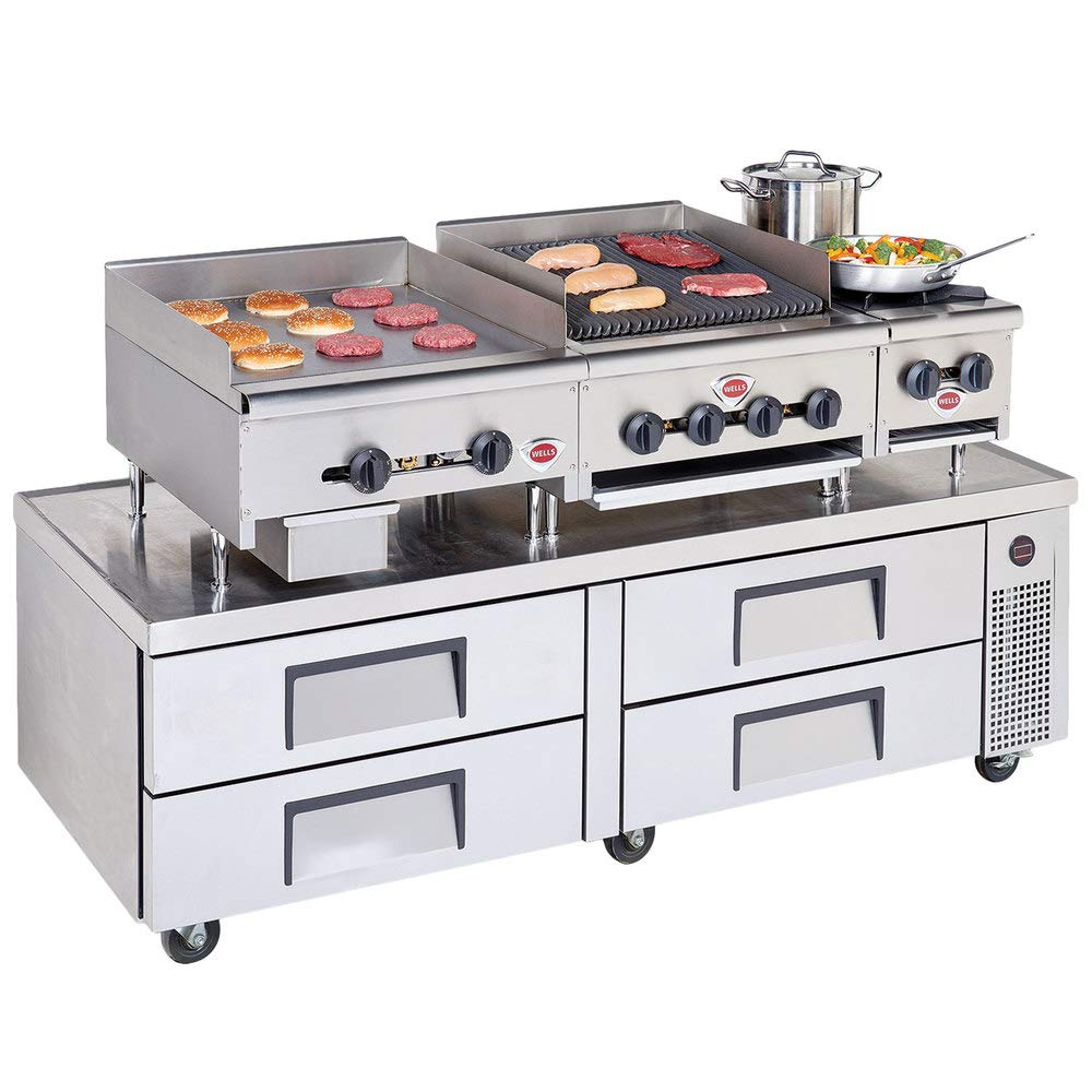 TableTop King HDTG-2430G Natural Gas Heavy Duty 24'' Countertop Griddle - 60,000 BTU