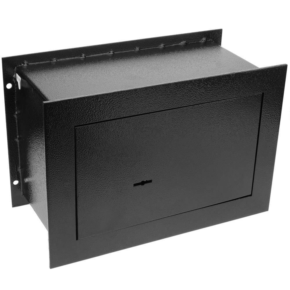 Caja Fuerte de Seguridad empotrada de Acero con Llaves 31x15x21cm Negra PrimeMatik
