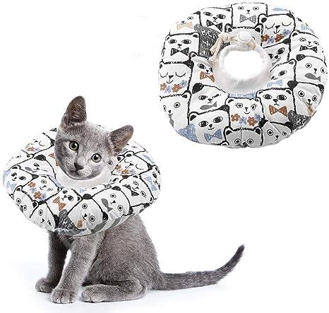 Perro mascota Gato Cono Collar Ajustable Ligero Recuperación ...