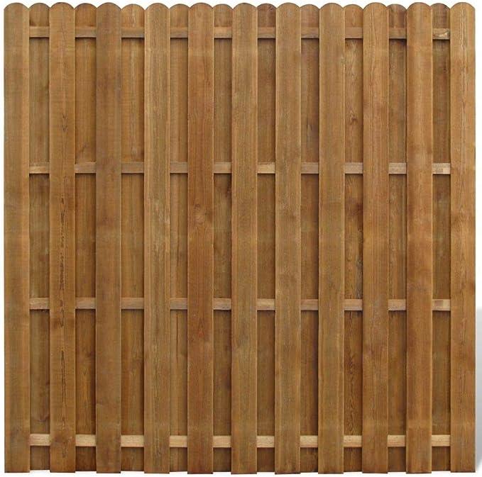 Panel de Valla de Madera con Estructura Atractiva de Tipo Registro de guías FSC Borde Barrera de jardín Patio Exterior ofreciendo así un Alto Grado de intimidad y Seguridad.: Amazon.es: Hogar