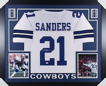 wholesale dealer 76661 f8d72 Deion Sanders Signed Cowboys 35x43 Custom Framed Jersey (JSA ...