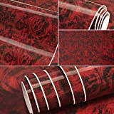 RED Maple Birdseye Wood Grain Vinyl Wrap Sticker Decorative Self-Adhesive Film 30CMx50CM