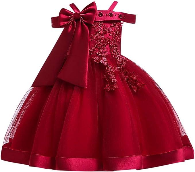 Abiti Eleganti Bambina 8 Anni.Longra Bambine Senza Maniche Principessa Abiti Eleganti Vestito Da